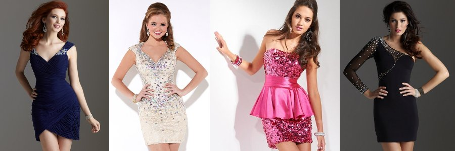 Eleganckie i kobiece krótkie sukienki